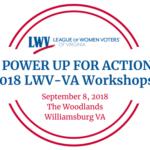 2018 LWV-VA Workshop Logo