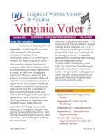 LWV-VA 2018 Sept Virginia Voter